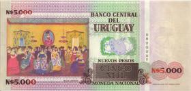 Uruguay P.68A 5000 Pesos 1989 NO EMITIDO (1)