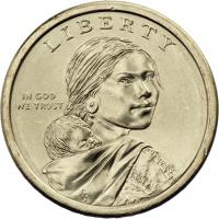USA 1 Dollar 2014 Indianerin / Indianer