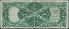 USA / United States P.187 1 Dollar 1917 United States Note (3-)
