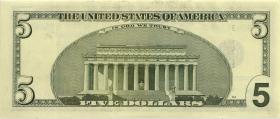 USA / United States P.510 5 Dollars 2001 (1-)