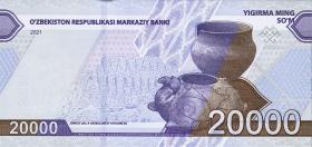 Usbekistan / Uzbekistan P.neu 20.000 Sum 2021 (1)