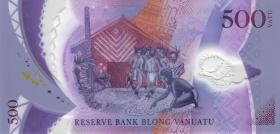 Vanuatu P.neu 500 Vatu 2017 Polymer Gedenkbanknote (1)