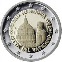 Vatikan 2 Euro 2016 200 Jahre Vatikanisches Gendarmeriecorps PP