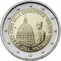 Vatikan 2 Euro 2016 200 Jahre Vatikanisches Gendarmeriecorps