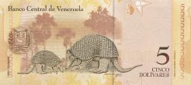 Venezuela P.89a 5 Bolivares 20.3.2007 (1)