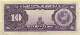 Venezuela P.31c 10 Bolivares 1956 (2+)
