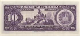 Venezuela P.45a 10 Bolivares 1963 (1)