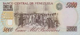 Venezuela P.75b 5000 Bolivares 1996 (1)