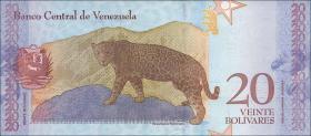 Venezuela P.104a 20 Bolivares 15.1.2018 (1)