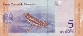 Venezuela P.102a 5 Bolivares 15.1.2018 (1)