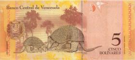 Venezuela P.89b 5 Bolivares 24.5.2007 (1)