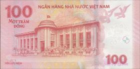 Vietnam / Viet Nam P.neu 100 Dong 2016 Gedenkbanknote (1)