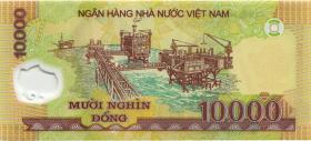 Vietnam / Viet Nam P.119d 10000 Dong (2009) Polymer (1)