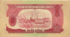 Vietnam / Viet Nam P.074b 10 Dong 1958 Dä Thu (1)
