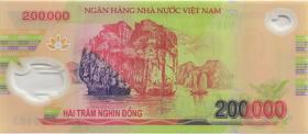 Vietnam / Viet Nam P.123d 200.000 Dong (2010) Polymer (1)