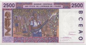 West-Afr.Staaten/West African States P.112Aa 2500 Francs 1993 Elfenbeinküste (1)