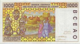 West-Afr.Staaten/West African States P.611Hf 1000 Francs 1996 Niger (1)