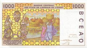 West-Afr.Staaten/West African States P.611Hk 1000 Francs 2002 Niger (1)