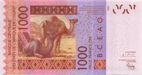 West-Afr.Staaten/West African States P.615Ha 1000 Francs 2003 Niger (1)