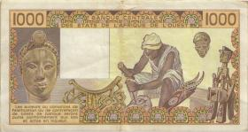 West-Afr.Staaten/West African States P.707Kd 1000 Francs 1984 (3)