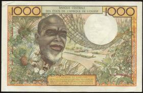 West-Afr.Staaten/West African States P.103Ad 1000 Francs 1965 (2)