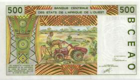 West-Afr.Staaten/West African States P.410Da 500 Francs 1991 (1)