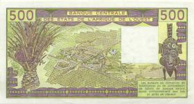 West-Afr.Staaten/West African States P.606Hj 500 Francs 1987 (1)
