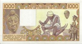 West-Afr.Staaten/West African States P.607Hh 1000 Francs 1987 (1)