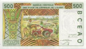 West-Afr.Staaten/West African States P.810Tk 500 Francs 2000 (1)