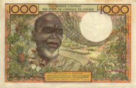 West-Afr.Staaten/West African States P.103Ac 1000 Francs 1961 (2)