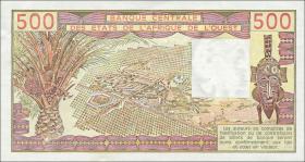 West-Afr.Staaten/West African States P.105Aa 500 Francs 1979 Elfenbeinküste (1/1-)