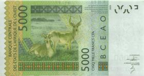West-Afr.Staaten/West African States P.817Tk 5000 Francs 2013 Togo (1)