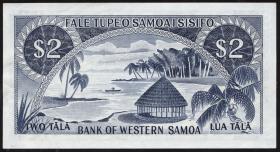 West Samoa P.17a 2 Tala (1967) (1-)