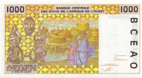 West-Afr.Staaten/West African States P.411Da 1000 Francs 1991 (1)
