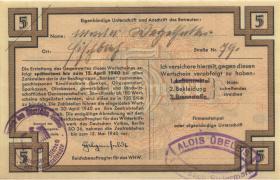 WHW-14 Winterhilfswerk 5 Reichsmark 1939/40 Reihe II (1)