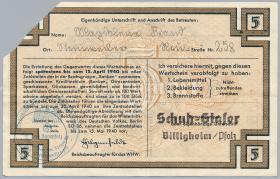 WHW-14 Winterhilfswerk 5 Reichsmark 1939/40 Reihe II entwertet (2)