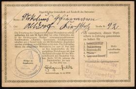 WHW-30 Winterhilfswerk 1 Reichsmark 1941/42 (1-)