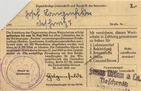 WHW-37 Winterhilfswerk 1 Reichsmark 1942/43 (1) entwertet