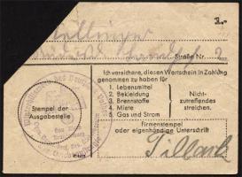 WHW-40 Winterhilfswerk 1 Reichsmark 1943/44 (1) entwertet