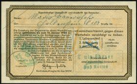 WHW-10 Winterhilfswerk 1 Reichsmark 1939/40 mit Überdruck (1)