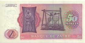 Zaire P.16b 50 Makuta 24.6.1977 (1)