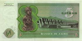 Zaire P.21a 5 Zaires 30.11.1974 (1-)