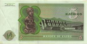 Zaire P.21a 5 Zaires 24.11.1976 (2)