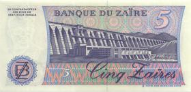 Zaire P.26A 5 Zaires 1985 (1)