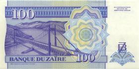 Zaire P.58b 100 Nouveau Zaires 1994 (1)