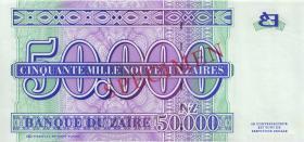 Zaire P.74s 50000 Nouveau Zaires 1996 Specimen (1)