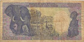 Zentralafrikanische Republik / Central African Republic P.016 1000 Fr. 1987 (4)