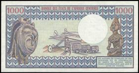 Zentralafrikanische Republik / Central African Republic P.010 1000 Francs 1984 (1)