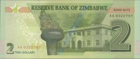 Zimbabwe P.neu 2 Dollars 2016 (1)