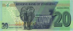 Zimbabwe P.104 20 Dollars 2020 (1)
